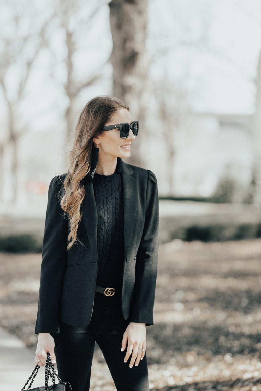 All Black + The Perfect Blazer
