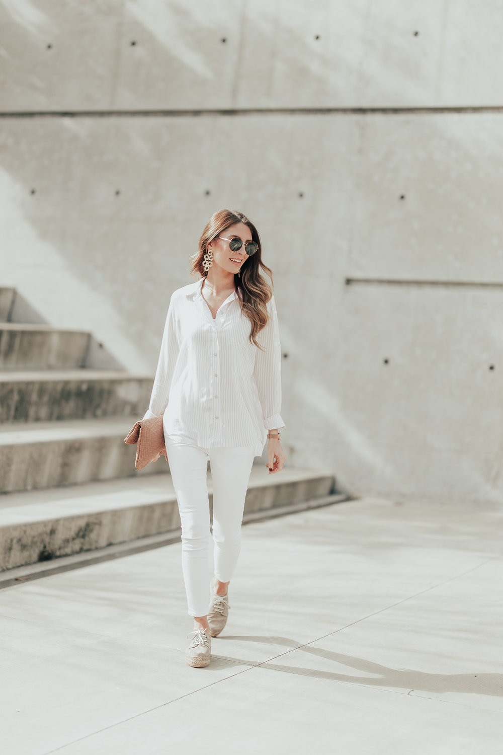 All White + Espadrilles