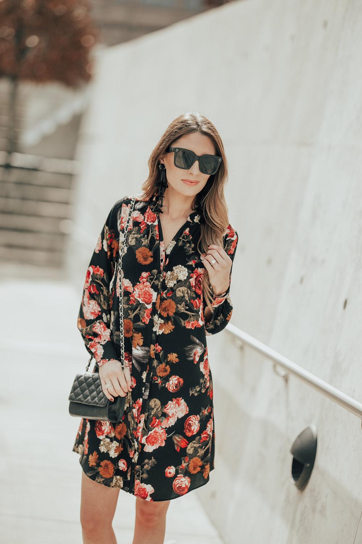 Floral Crepe Dress