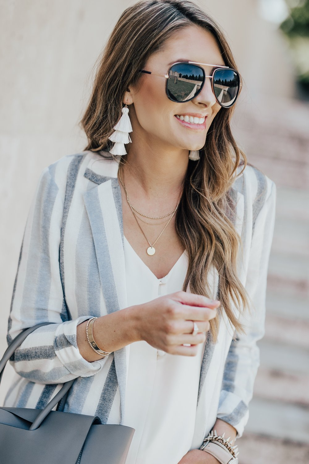 Striped Blazer + Accessories