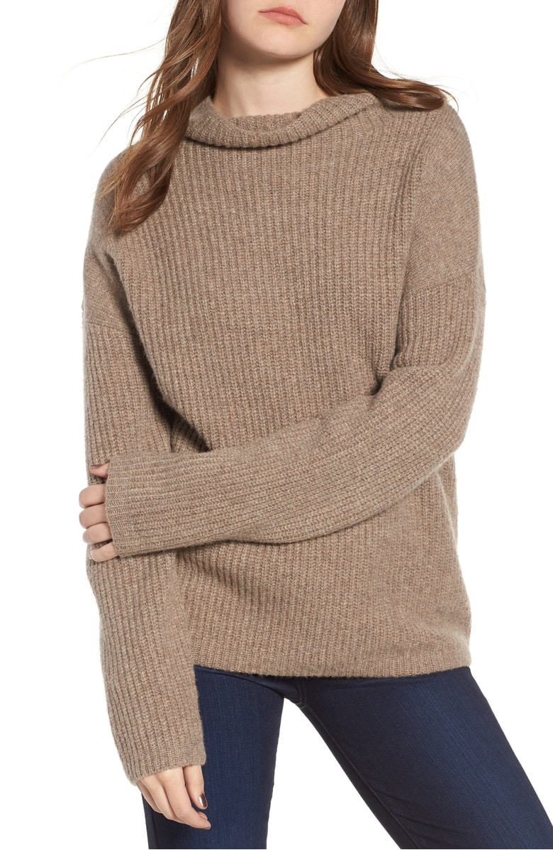 Trouvé Rib Funnel Neck Sweater - SALE: $52.90 (after sale: $79)
