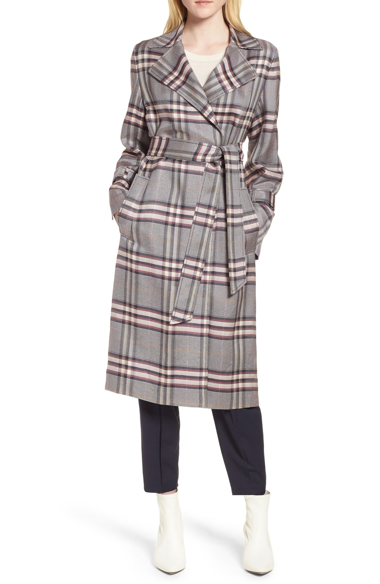 Lewit Bold Plaid Trench Coat - SALE: $399.90 (after sale: $599)