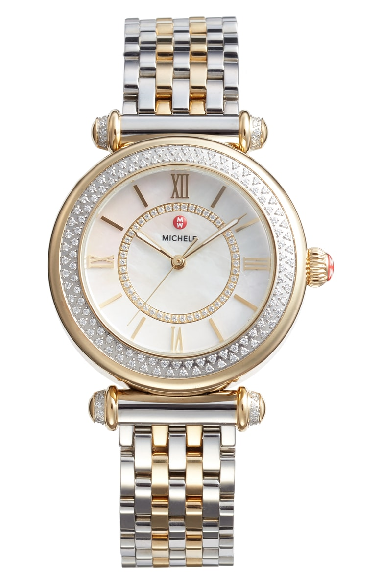 MICHELE Caber Diamond Bracelet Watch, 35mm - SALE: $1799.90 (after sale: $2695)