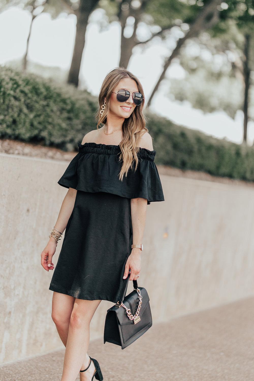 Black OTS Dress