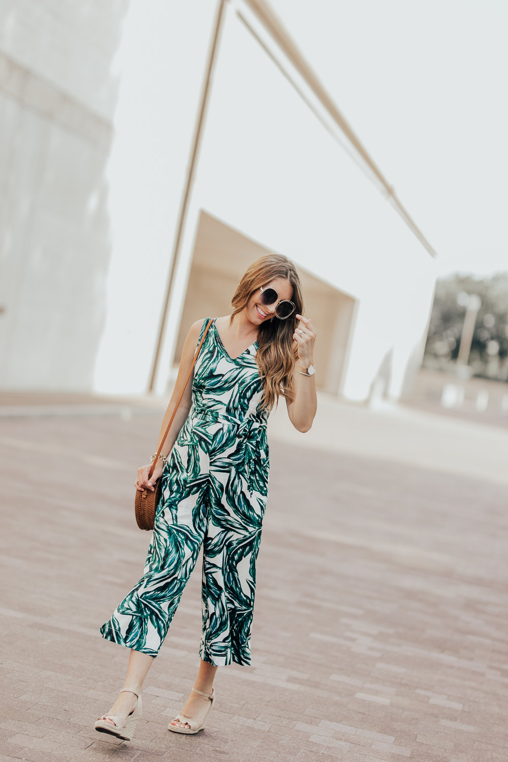 Palm Print Jumpsuit