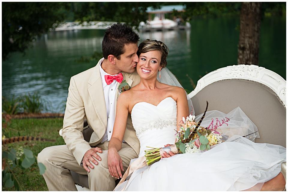 Lakeside Southern Summer Wedding Inspiration | www.bespokenwed.com