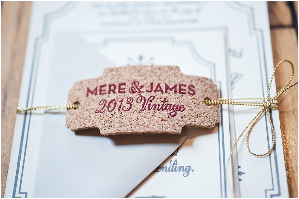 Bespoken Weddings | Custom Cork Tags | Wedding Invitations