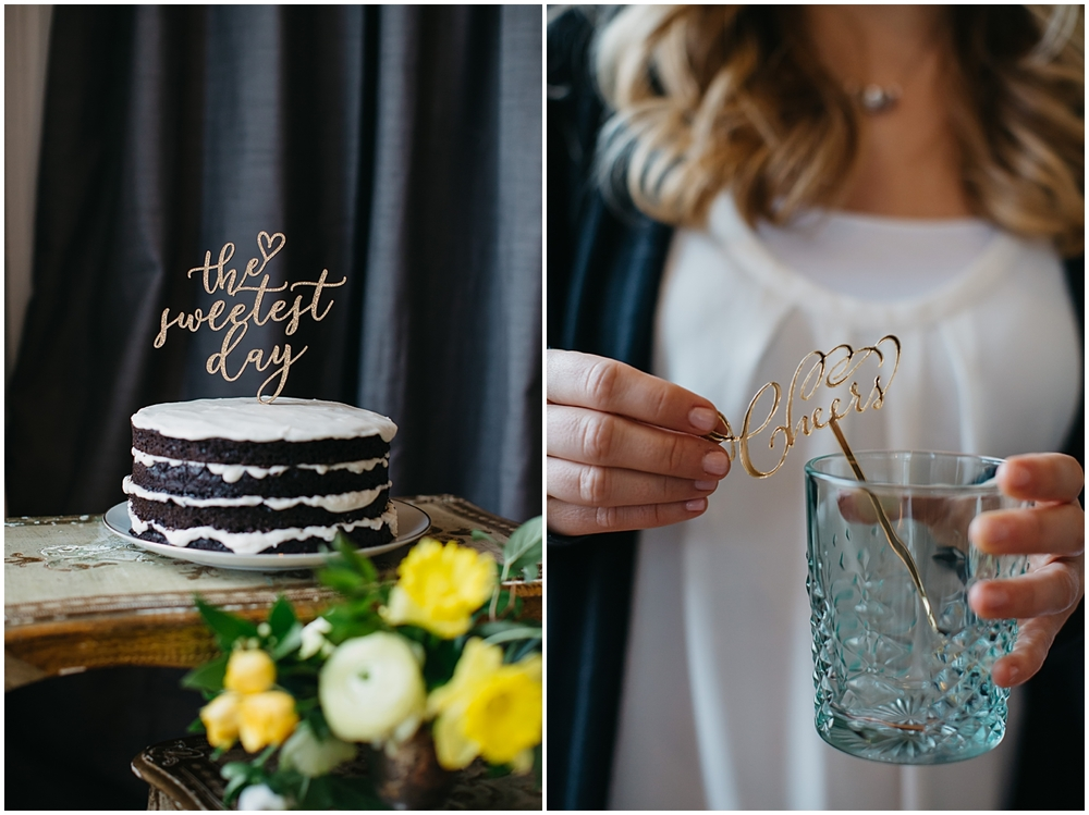 Bespoken Weddings | Laser Cut Cake Topper | Drink Stirrer | Gold