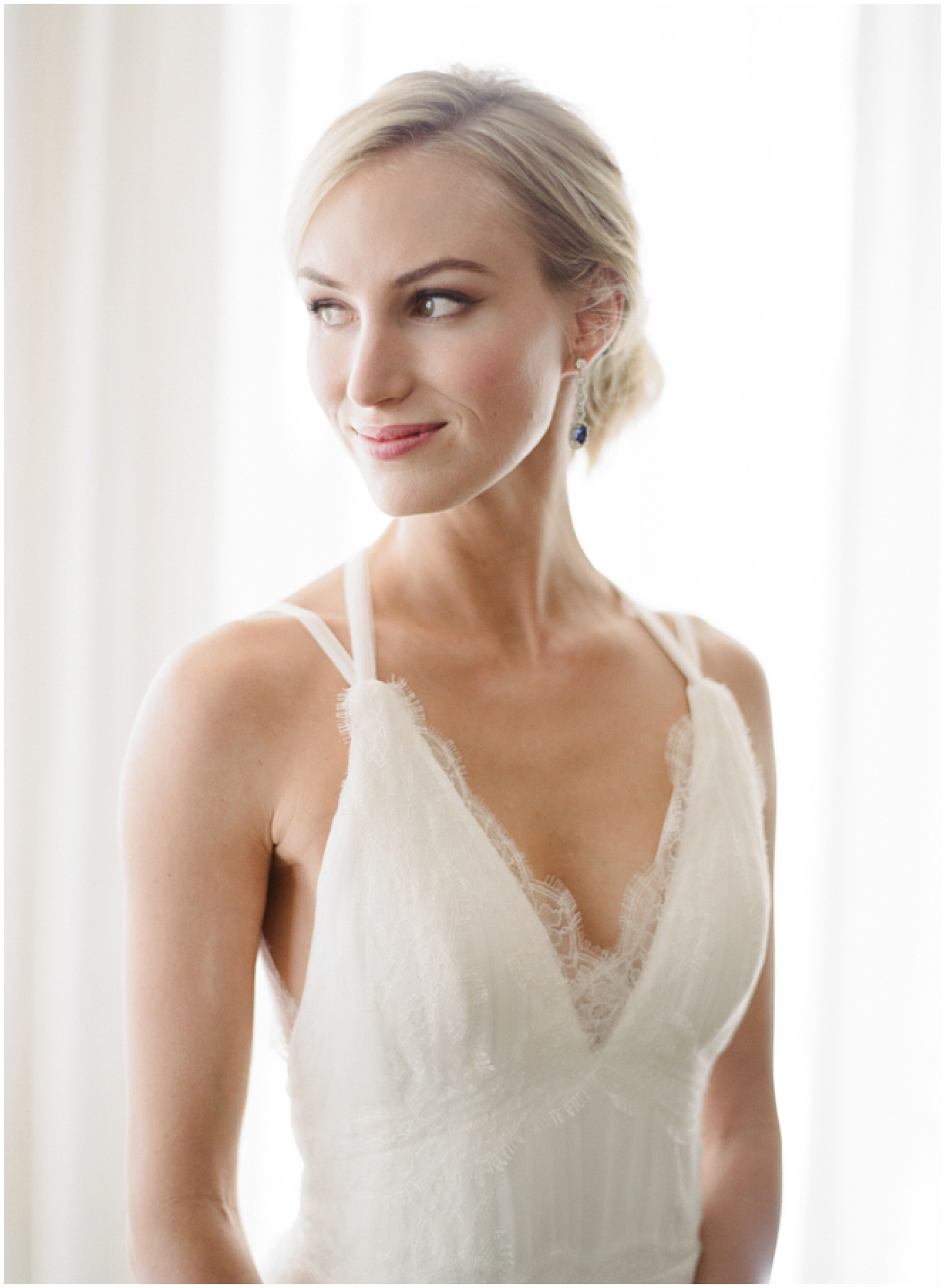 Lace Wedding Dress | Photographed by  Joel Serrato  | As seen on  Style Me Pretty