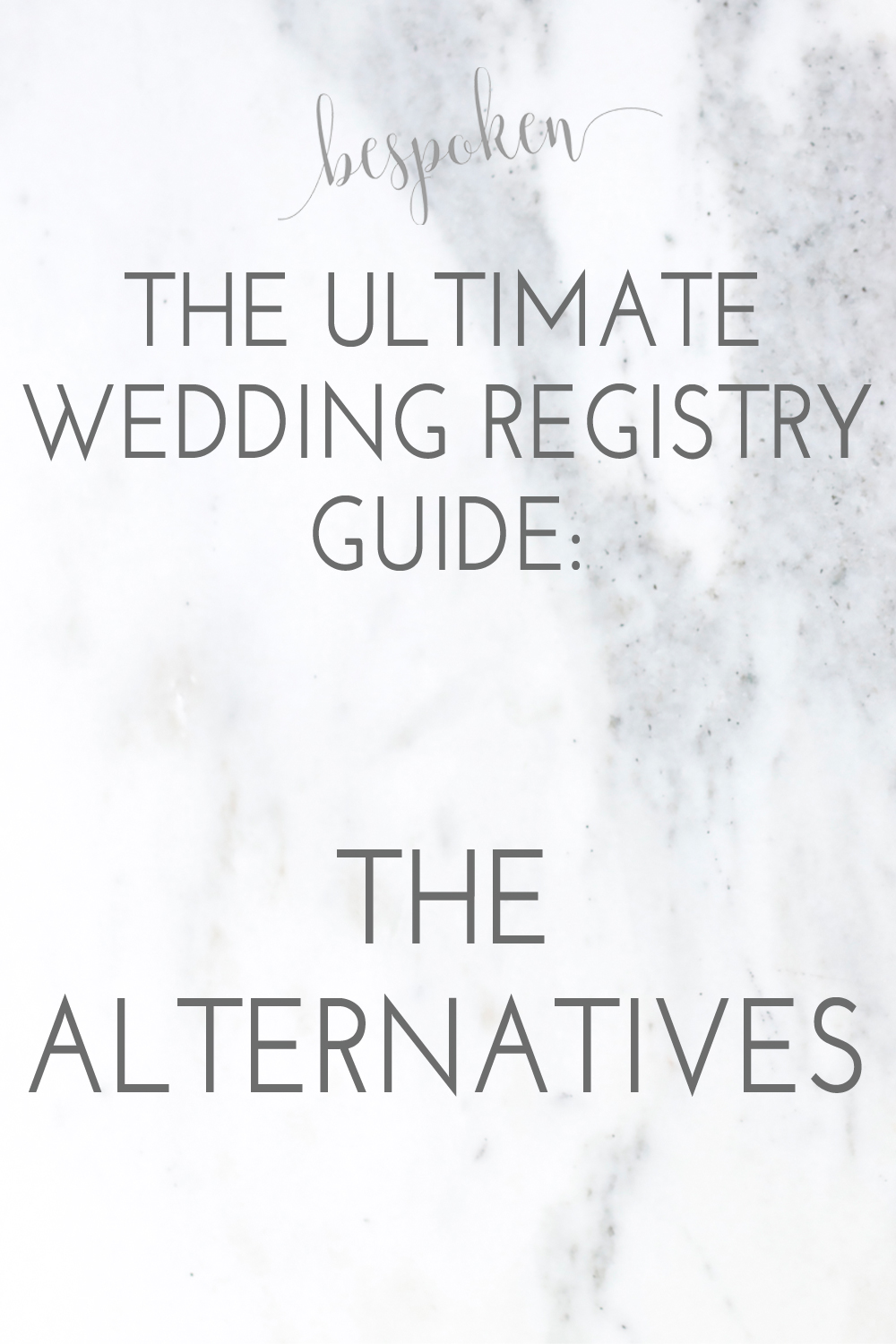 The Ultimate Wedding Registry Guide: Alternative Registries | Bespoken www.bespokenweddings.com