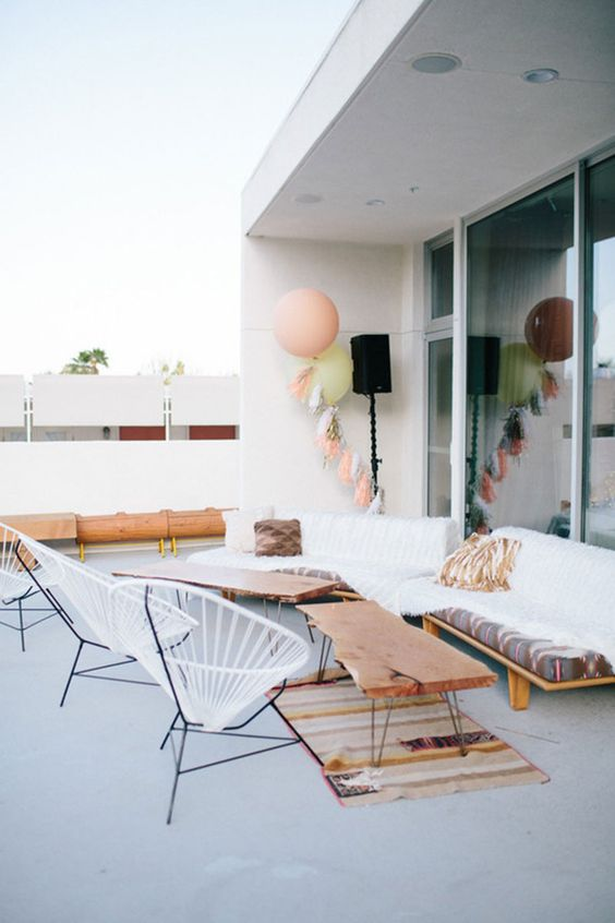 This patio at  Ace Hotel  in Palm Springs, photographed by  Raya Carlisle  as seen on  100 Layer Cake