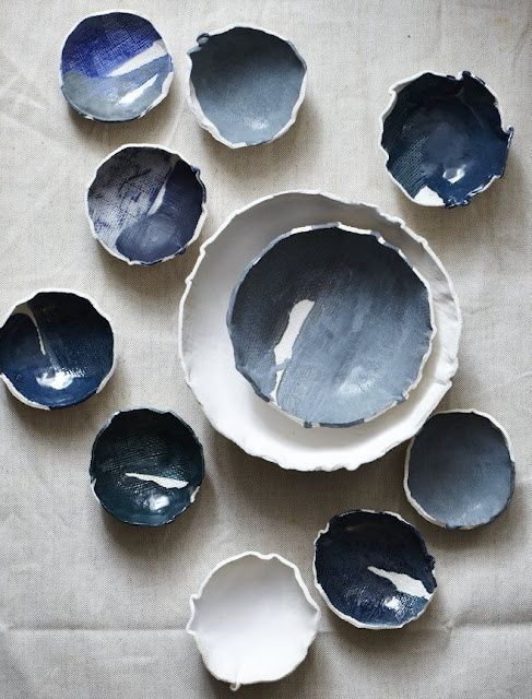 These ocean blue ceramic dishes, spotted on Elephant Ceramics