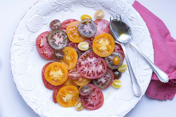 Heirloom Tomato Salad | Bespoken www.bespokenweddings.com