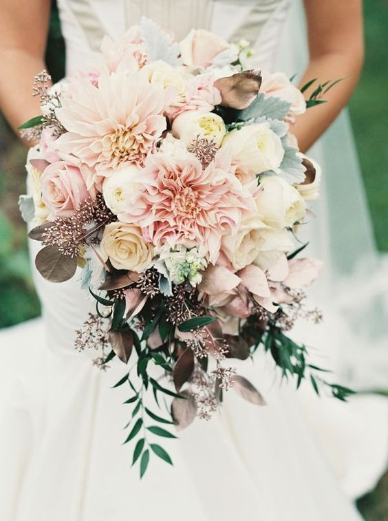 Beautiful wedding bouquet from   Holly Heider Chapple   as seen on   Mod Wedding