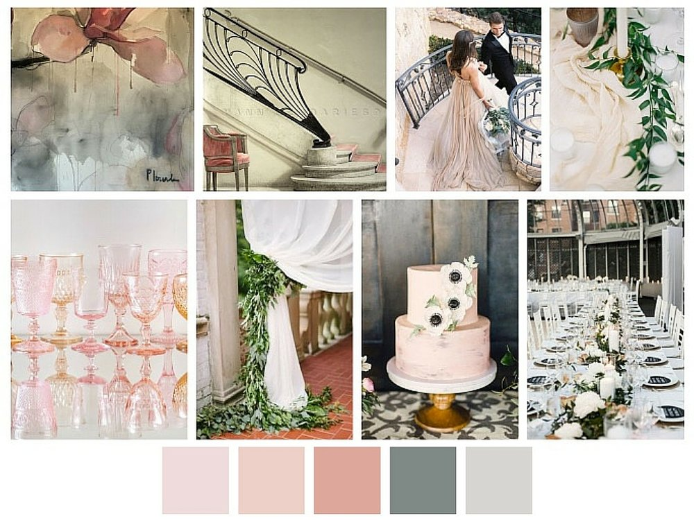 Wedding Design Inspiration | Blush, Neutrals, Black, White, Chic, French, Couture | Bespoken Weddings Greenville SC