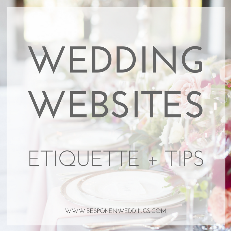 Wedding Websites: Etiquette + Tips | Bespoken Wedding Planning