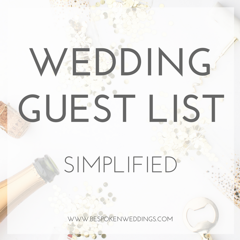 Your Wedding Guest List Simplified