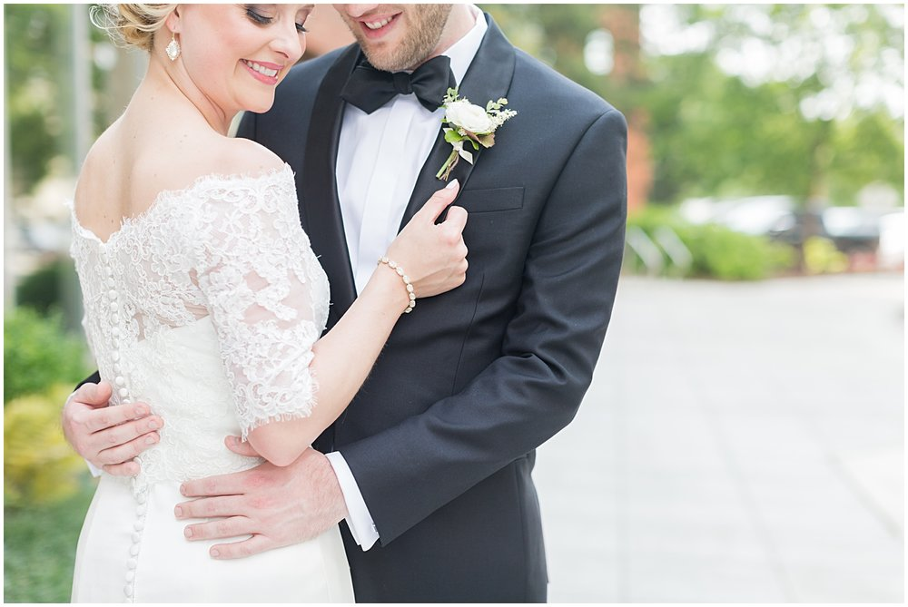 Black Tie and Neutrals with Gold Downtown Greenville SC Wedding | Bespoken Weddings | Ryan & Alyssa Photography