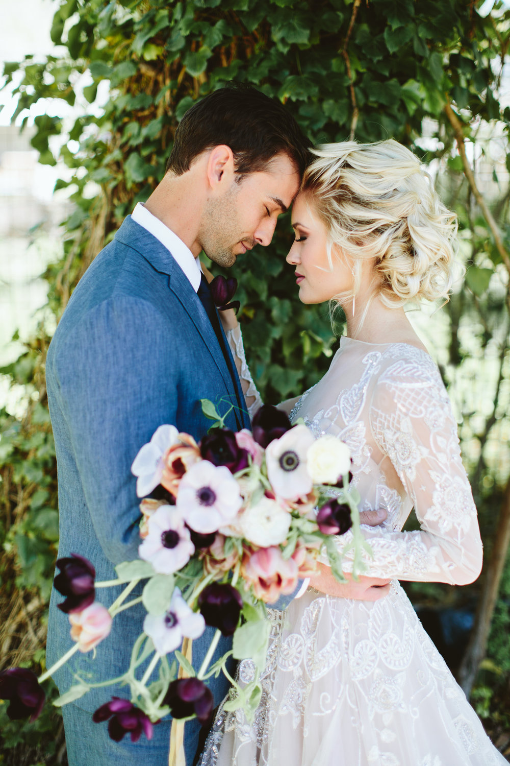 Ocean Wedding with Purple, Mauve, and Grays | Bespoken Weddings | Greenville SC