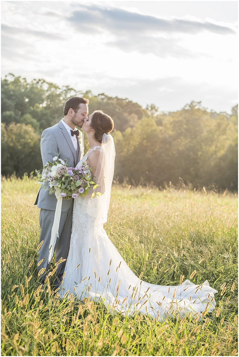 Real Wedding in Greenville, SC | Farm, Outdoor, Summer, Purple, Mauve, Gray, Greenery | Greenbrier Farms | Davey Morgan Photography | Bespoken Weddings & Events