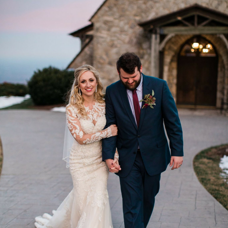 The Cliffs at Glassy Winter Wedding | Bespoken Weddings & Events | Southern Wedding