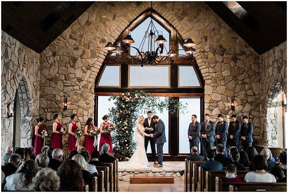 Winter Wedding | Glassy Chapel | Burgundy, Blush, Gold | Bespoken Weddings & Events