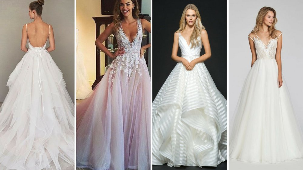 Images (left to right):  Mod Wedding  |  PGM Dresses  |  Hayley Paige  | The Knot
