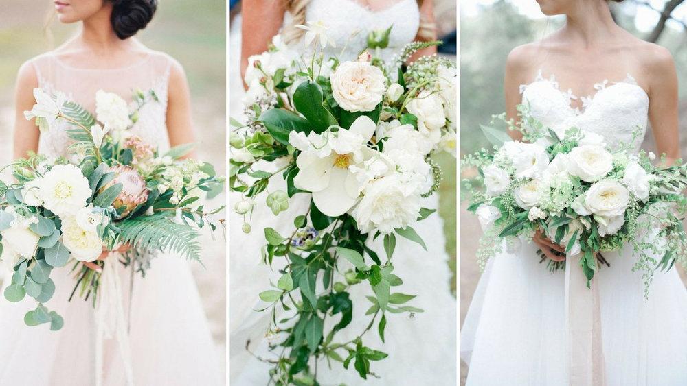 Images (left to right): via  my weddinghq  / via  modwedding  / via  silk and willow