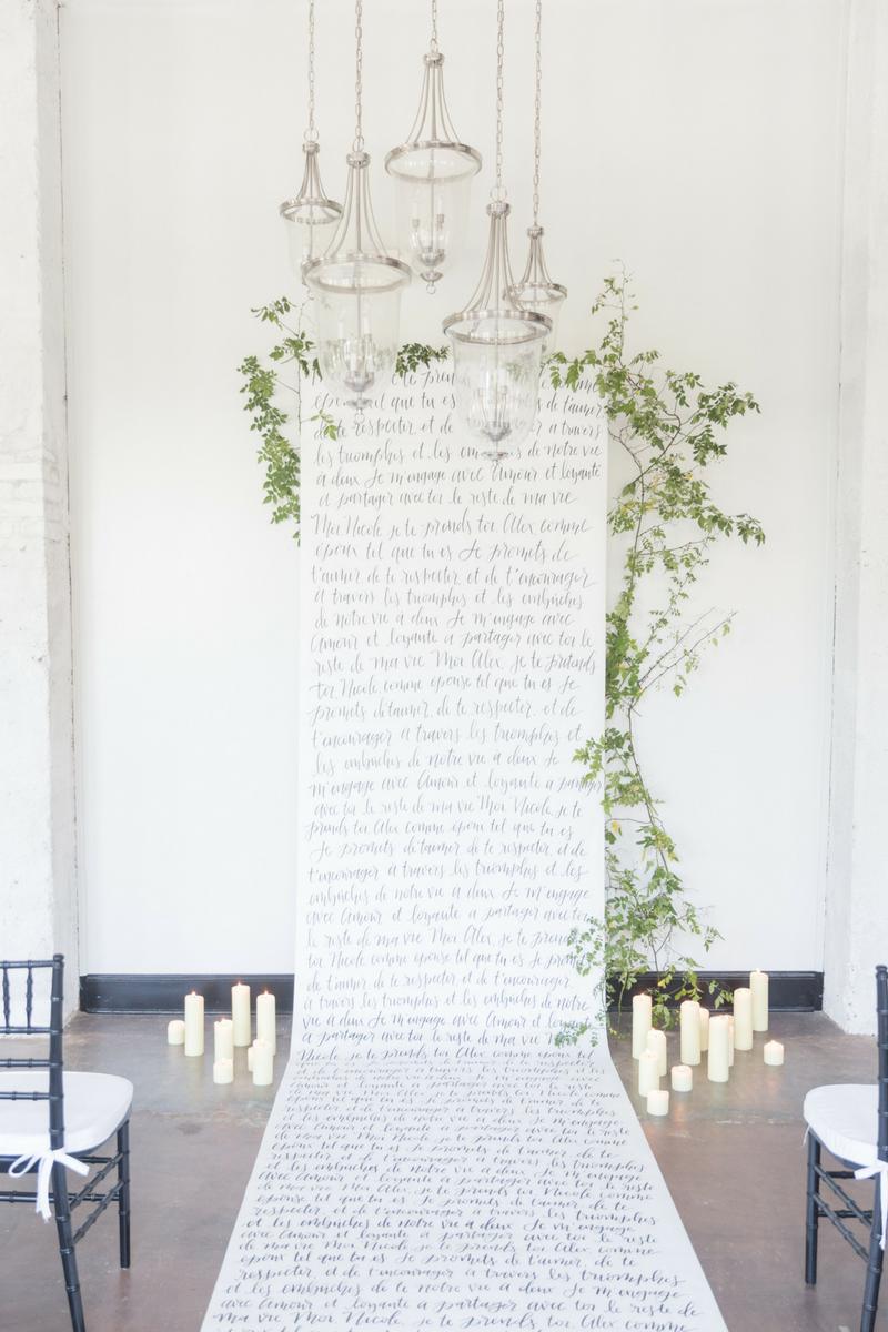 Image:  Ryan & Alyssa  | Creative Director:  Bespoken  | Calligraphy:  Letter Lane Design Studio  | Floral Designer & Styling:  Kate Asire