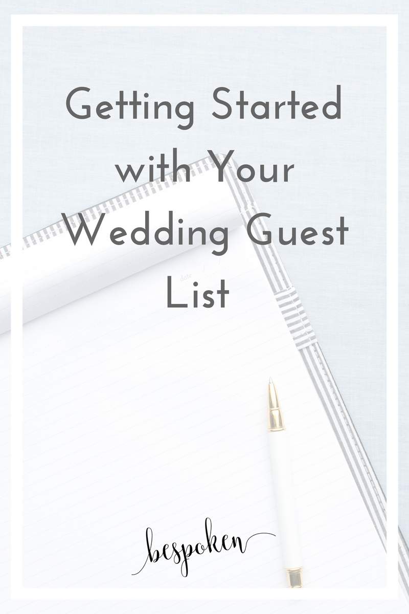 Getting Started with Your Wedding Guest List