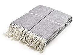 Plaid Gray Throw Blanket