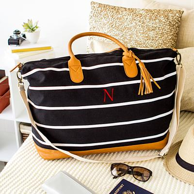 Striped Personalized Tote