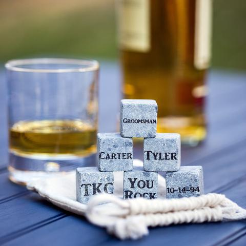 Gift Guide for Him: Engraved Whiskey Stones