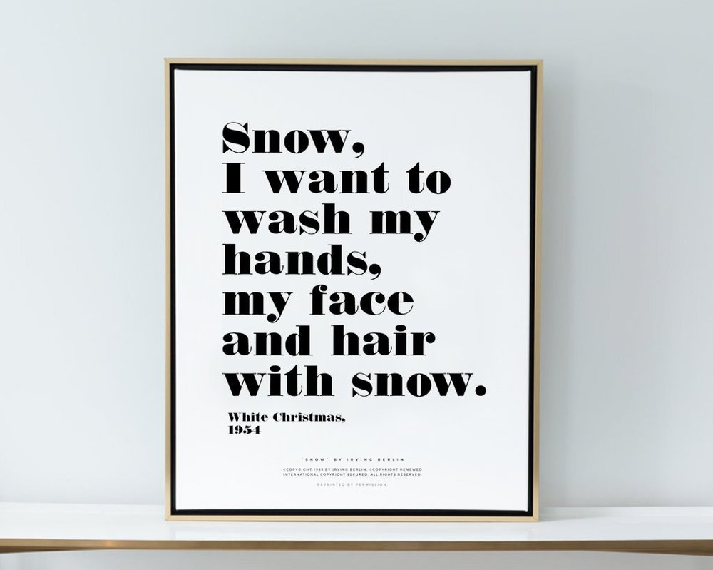 Snow Quote from Lindsay Letters Art Bar
