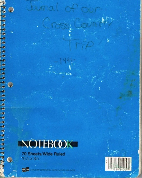 The actual cross country journal we kept