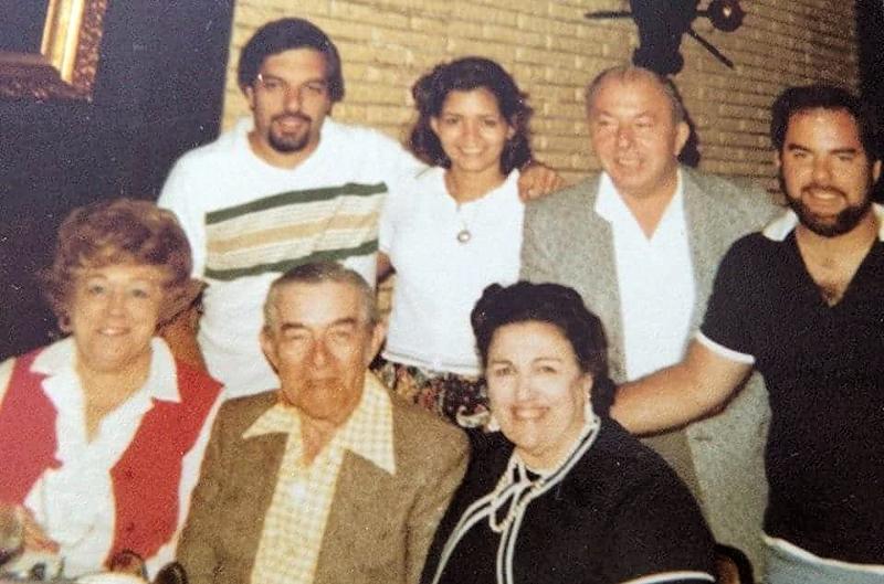 Top Row: Dad, Mom, Don, Sal  Bottom Row: Granny, Poppy, Anna
