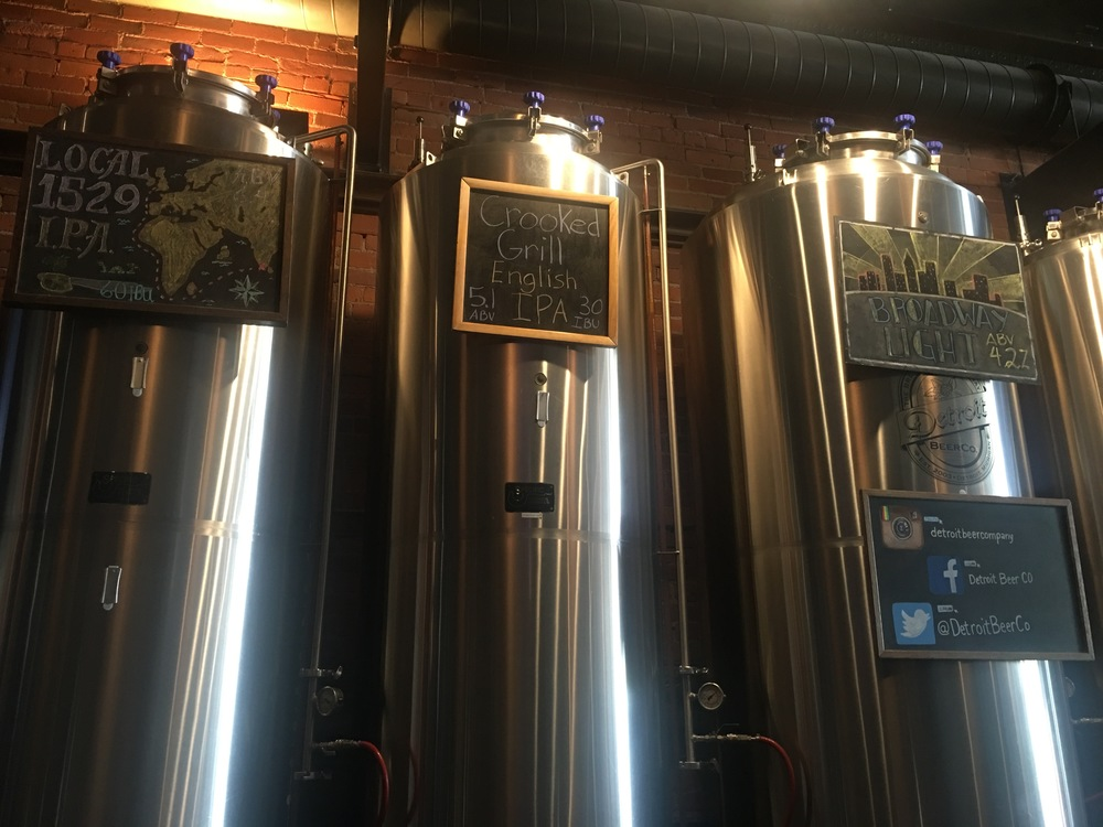Grab a craft beer and wings at Detroit Beer Co.