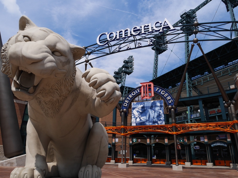 See a ball game at Comerica Park