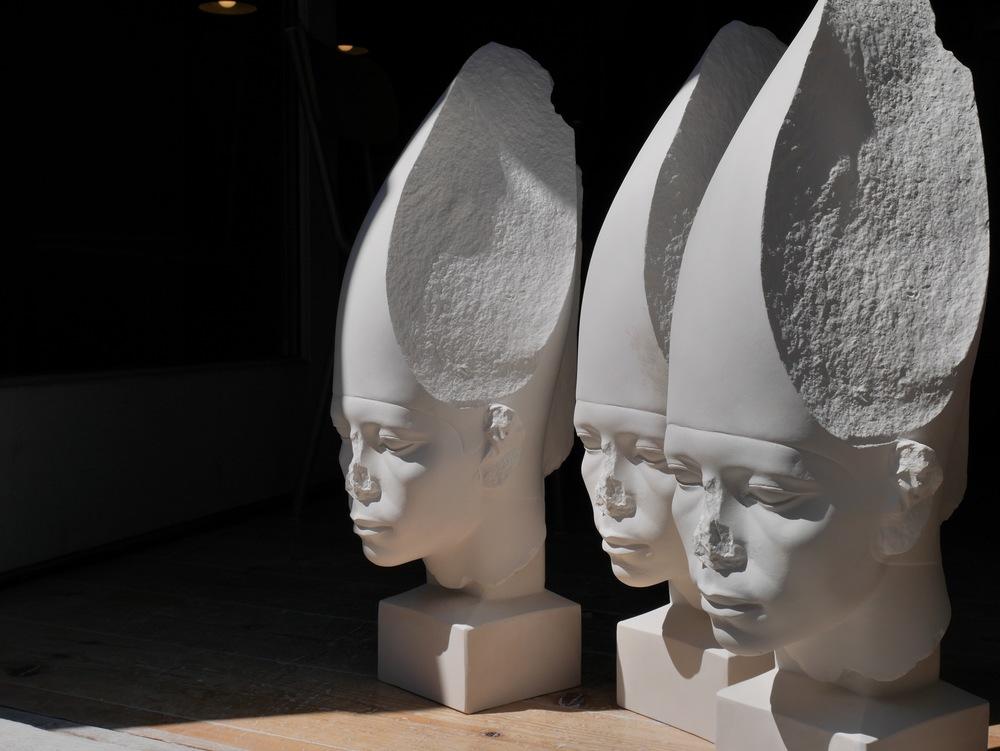 his sculptures