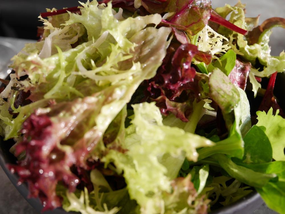 fresh, crisp, simple salad