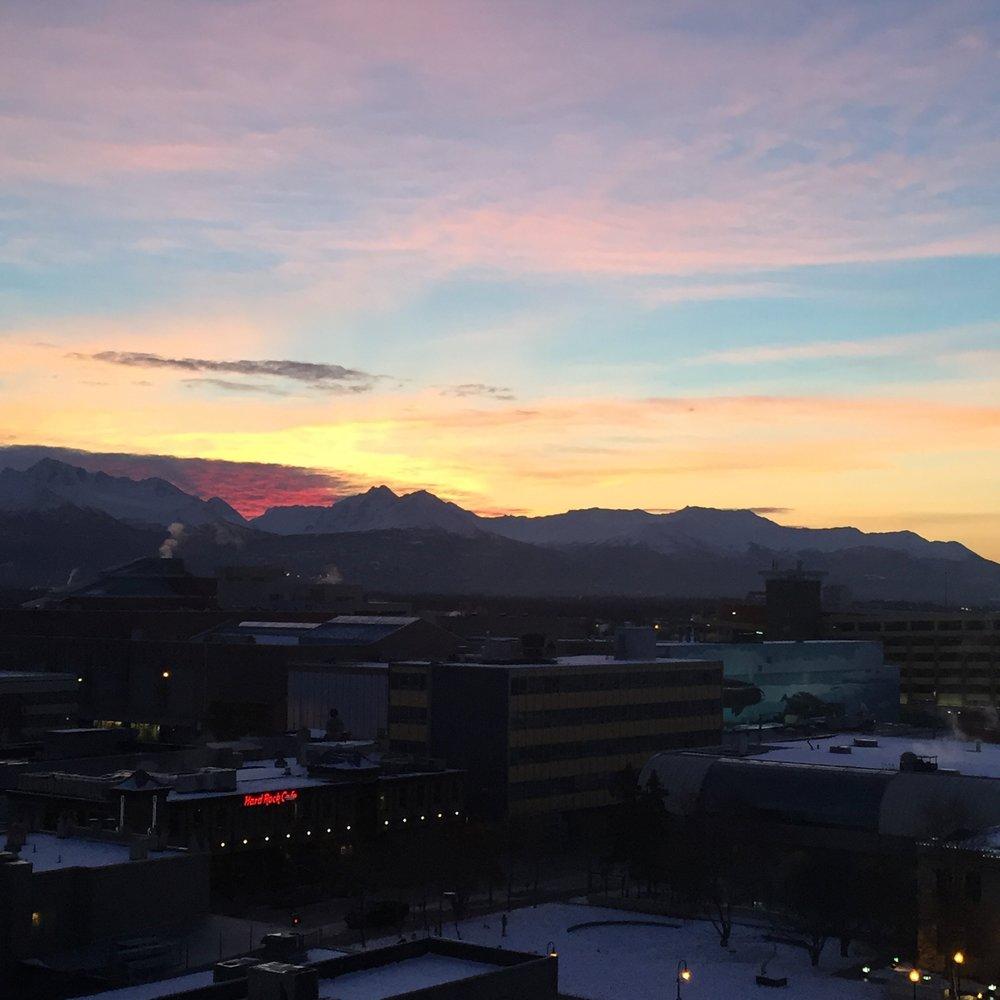 Sunset 3 pm