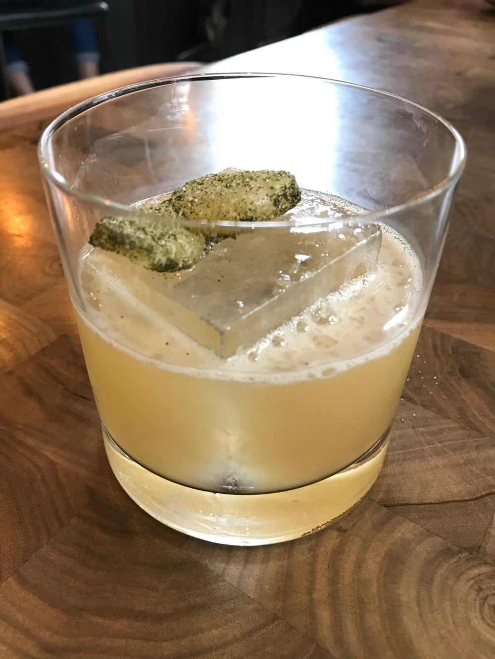 A delicious yuzu cocktail