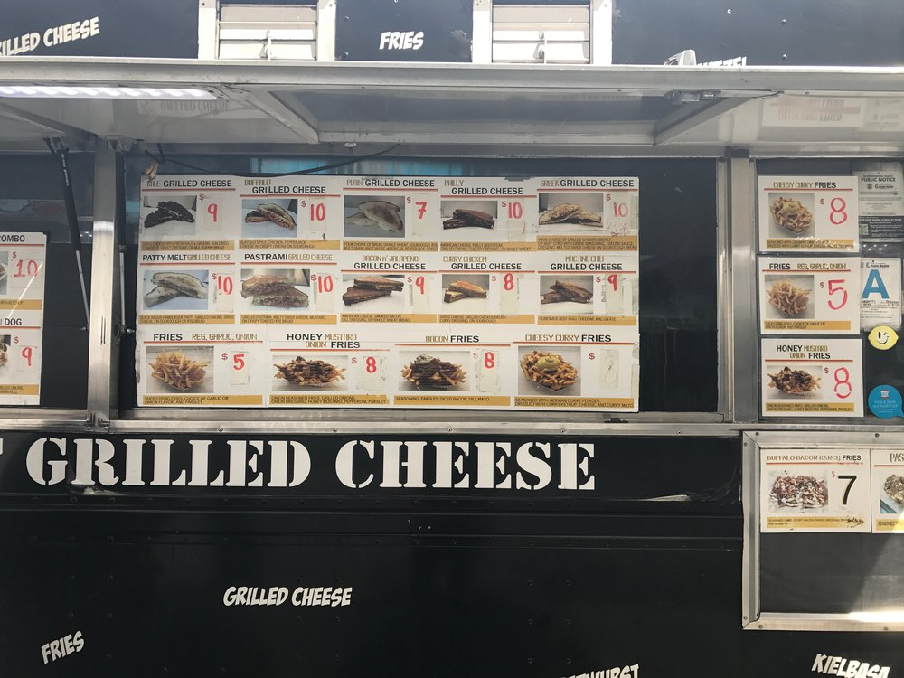 If you've worked up an appetite on the way back to The Broad (and/or you have time - the wait for food was long) check out the Grilled Cheese at the nearby food truck (The Kale Grilled Cheese was delicious).