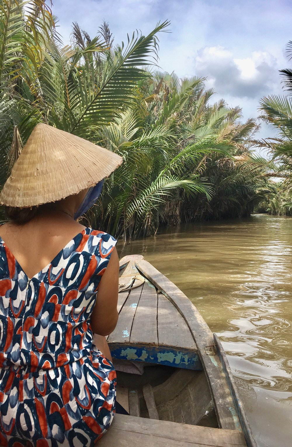 custom playsuit for boating on the Mekong Delta