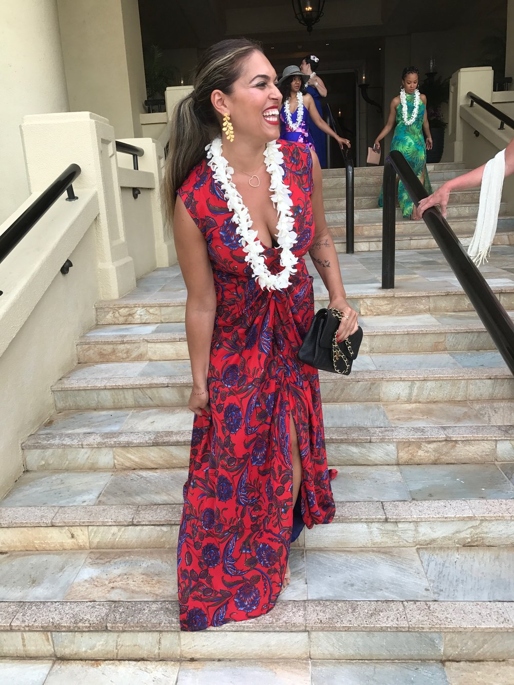 the dress on the wedding day in Maui