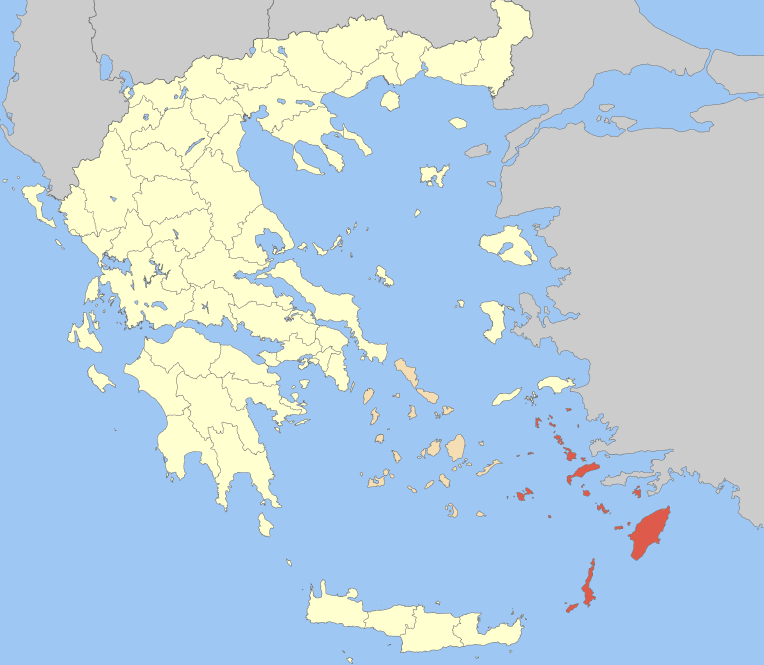 The Dodecanese in red