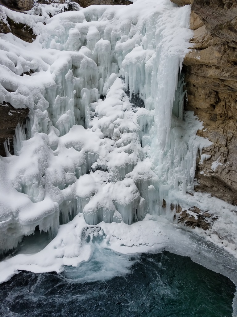 Johnston Canyon winter comparison