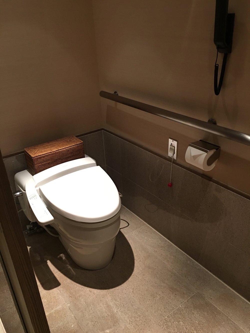 Hotel toilet in the Park Hyatt, Tokyo