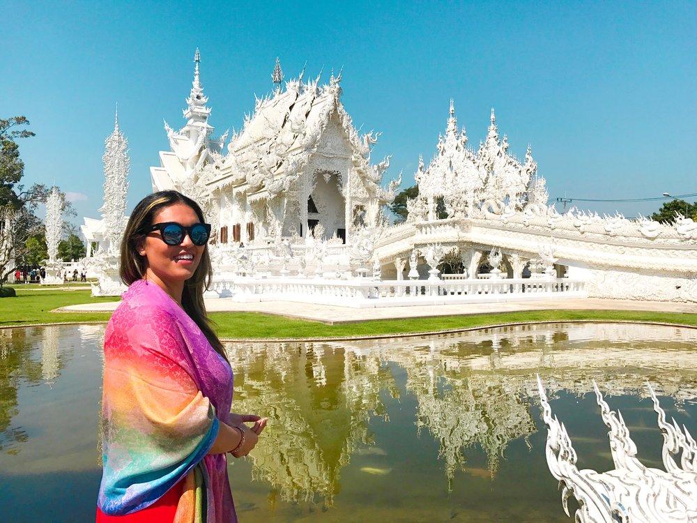 Photo taken by a fellow traveler - The White Temple, Chiang Rai, Thailand