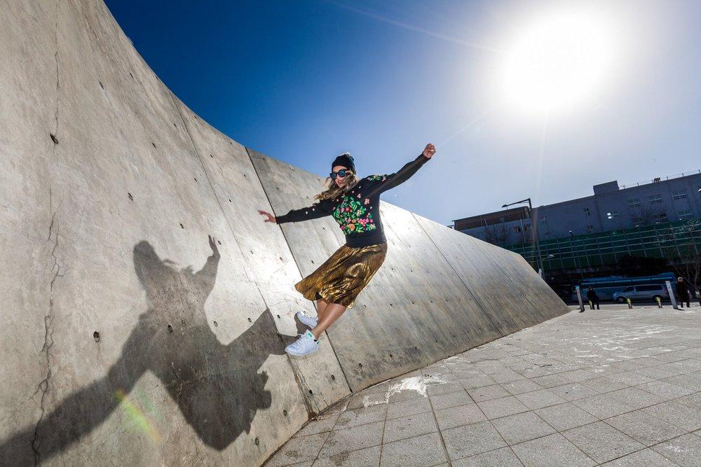 professional photoshoot with Seoul, Korea based photographer, Greg Samborski at the DDP